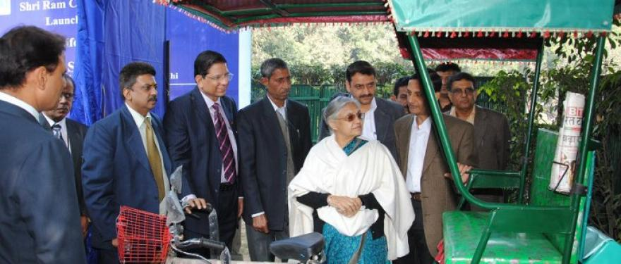 Life On Wheels' rickshaws inaugurated by Sheila Dixit, Chief Minister of Delhi.